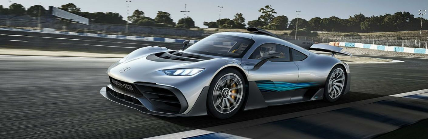 Mercedes-AMG One Exterior Driver Side Front Profile on the Track