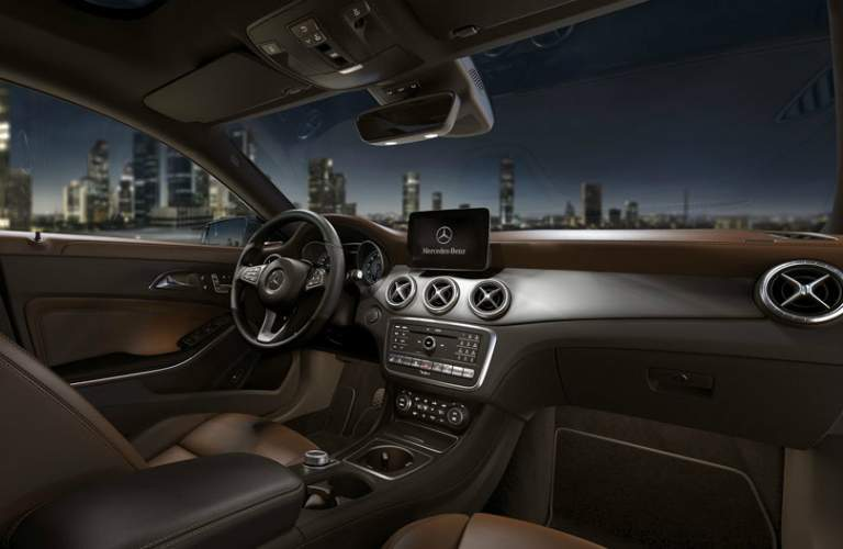 interior view of dashboard in Mercedes-Benz CLA