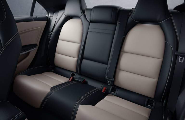 two tone rear seats in the Mercedes-Benz CLA