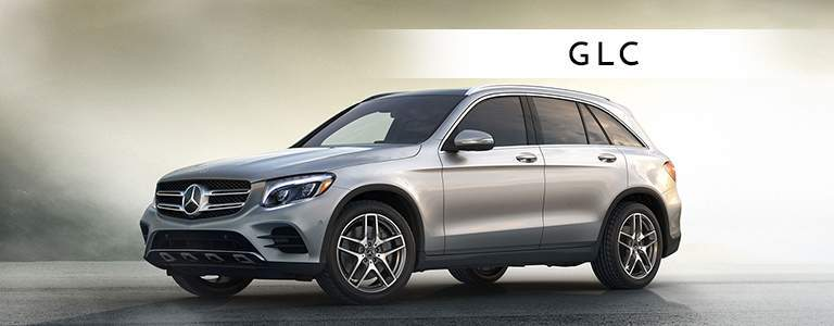 silver Mercedes-Benz GLC with text displayed saying GLC