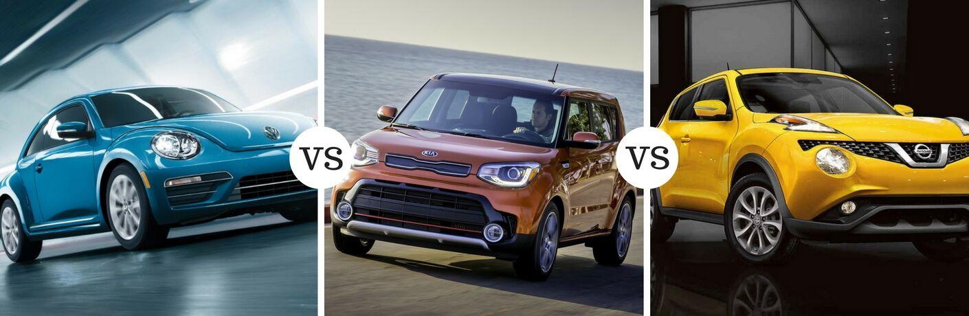 2017 Volkswagen Beetle Vs 2017 Kia Soul Vs 2017 Nissan Juke