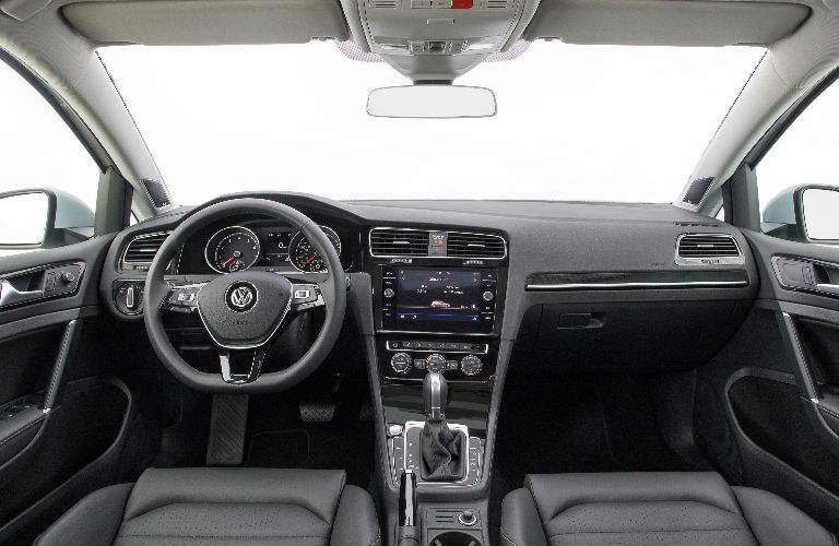 2018 Volkswagen Golf Dashboard and Black Front Seats