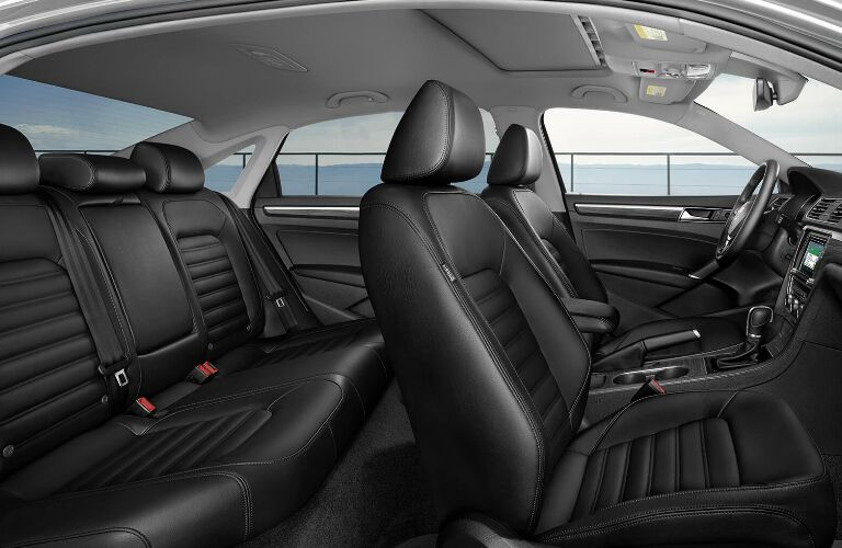 Black Front and Second-Row Seats in 2019 Volkswagen Passat