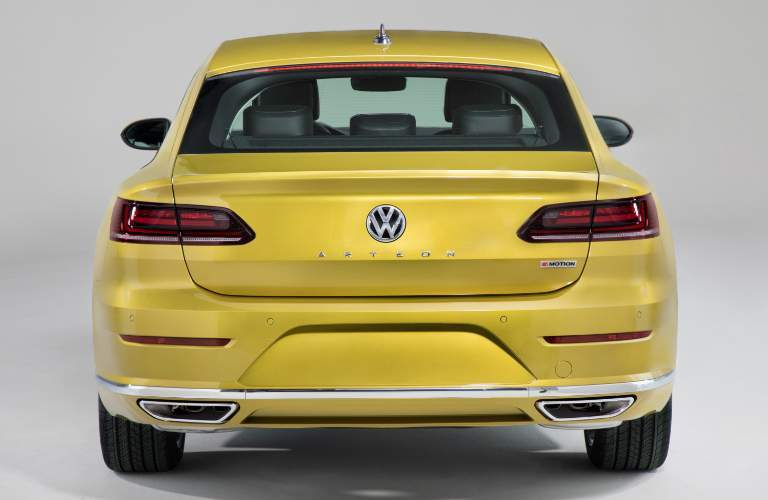 Rear View of Yellow 2019 Volkswagen Arteon