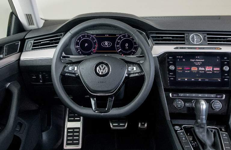 Steering Wheel, Gauges, and Touchscreen of 2018 Volkswagen Arteon