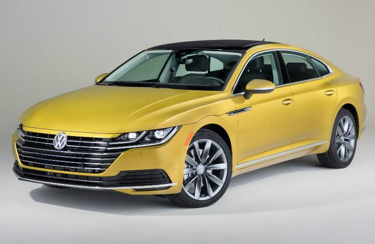Front View of Yellow 2019 Volkswagen Arteon