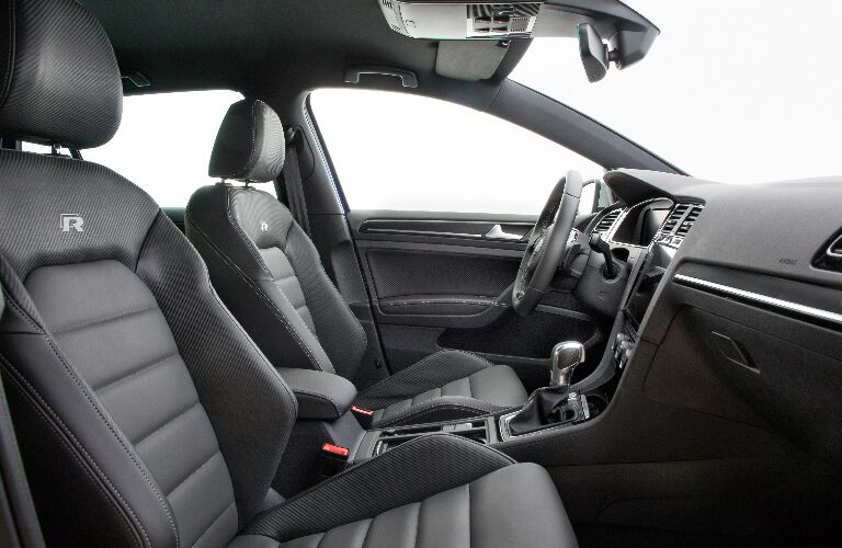 Dashboard and Grey Front Seats in 2019 Volkswagen Golf R