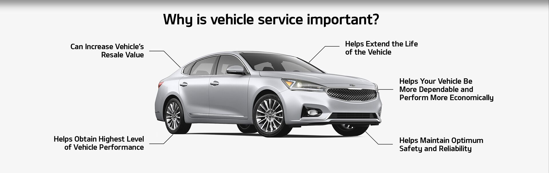 Why is vehicle service important?