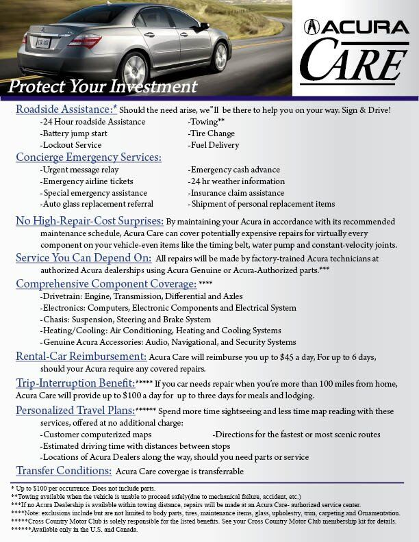 Acura Care at Motorcars Acura