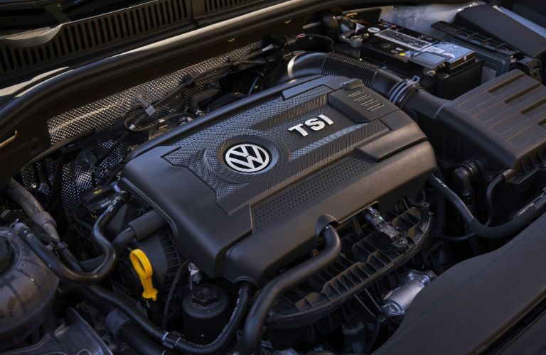 A photo of the engine used by the 2019 VW Jetta GLI.