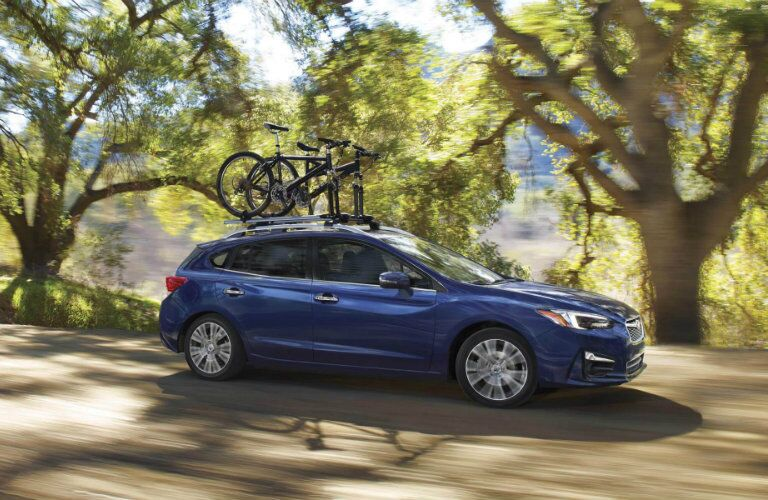 2018 Subaru Impreza driving on a country road