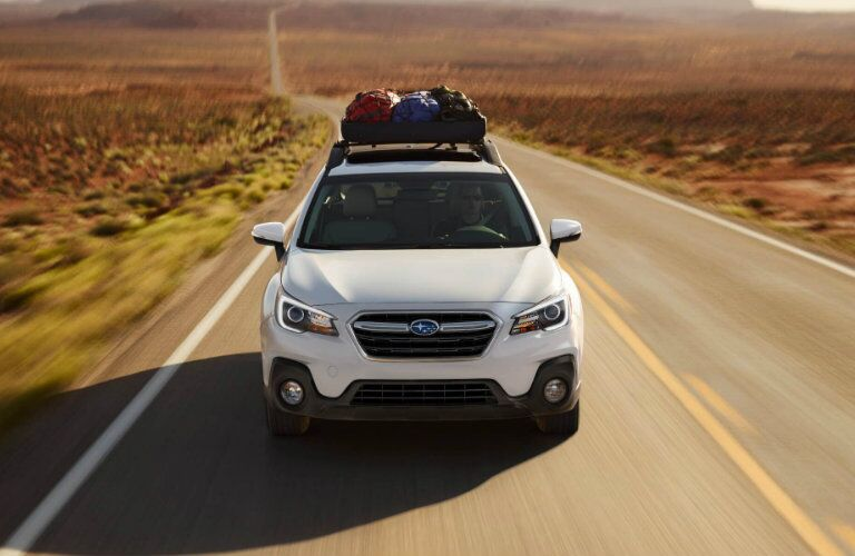 2018 Subaru Outback driving on the highway
