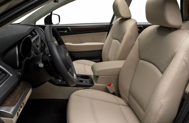 Front seats of the 2018 Subaru Outback