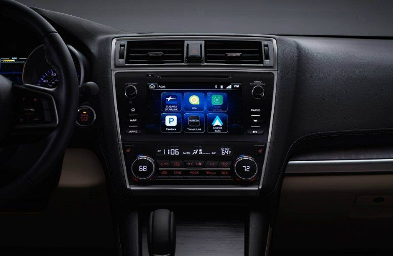 Touchscreen in the 2018 Subaru Outback