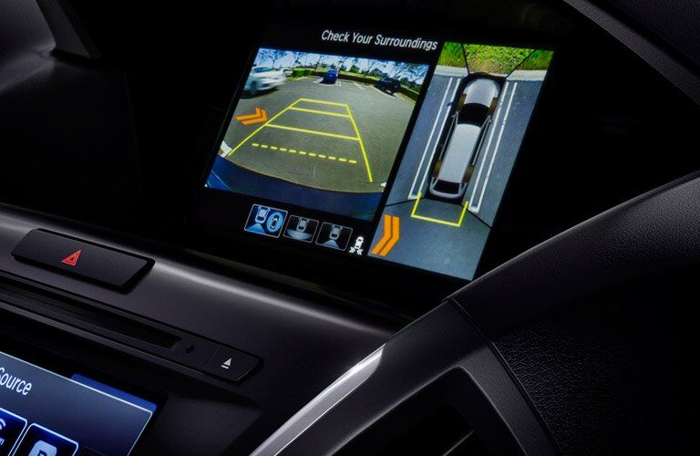 View of the 2017 Acura MDX's rearview camera