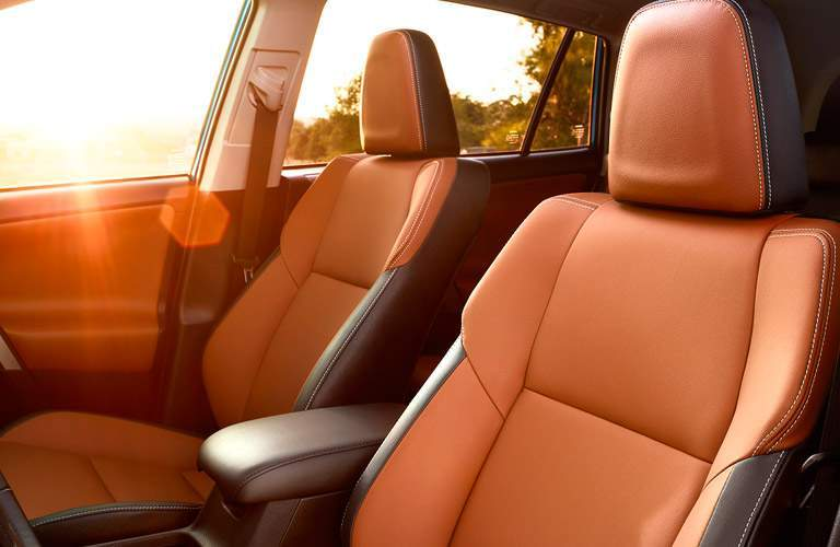 Front seats in the 2017 Toyota RAV4