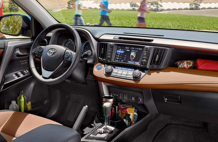 View of dashboard on 2017 Toyota RAV4