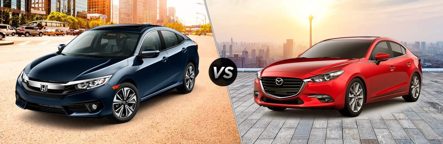 2017 Honda Civic vs. 2017 Mazda3