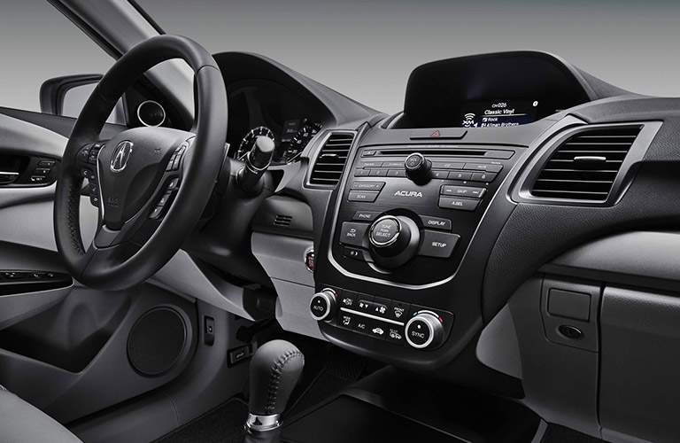 View of dashboard on 2017 Acura RDX