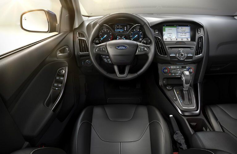 Interior of the 2017 Ford Focus