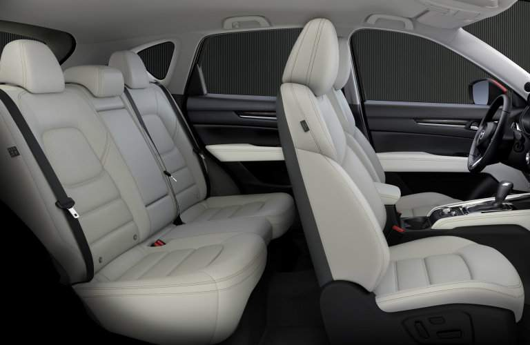 Two rows of seats inside 2017 Mazda CX-5