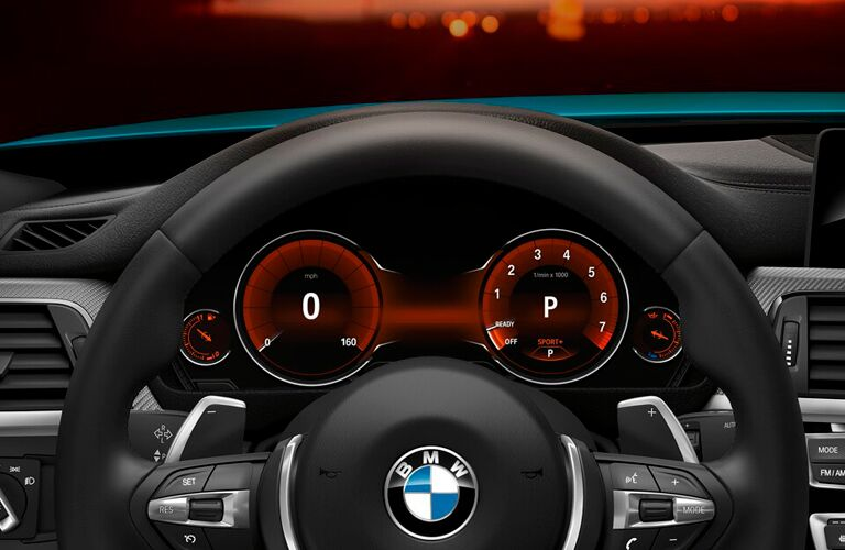 Steering wheel of the 2018 BMW 4-Series