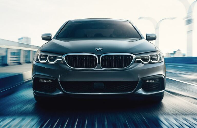 View of the 2018 BMW 5-Series from the front