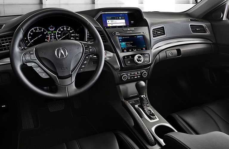 Steering wheel and dashboard in the 2019 Acura ILX
