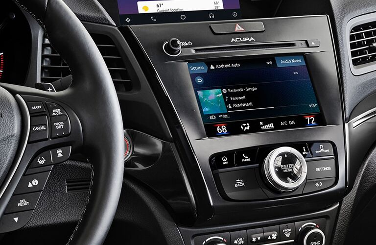 Infotainment screen in a 2019 Acura ILX