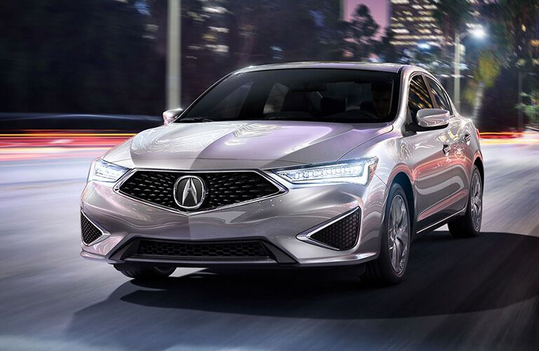 2019 Acura ILX driving in the city at night