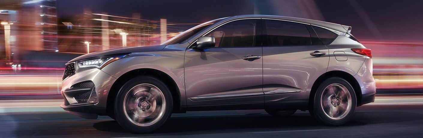 2019 Acura RDX driving fast