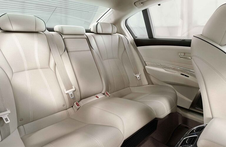 Rear seats in the 2019 Acura RLX