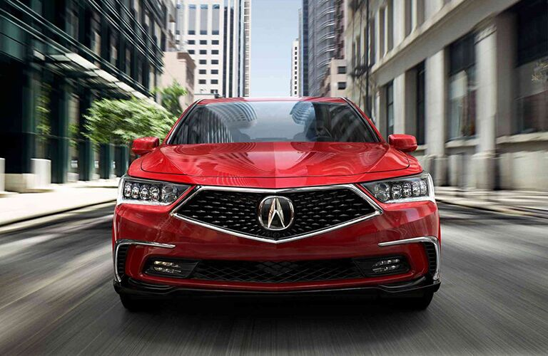 2019 Acura RLX driving downtown