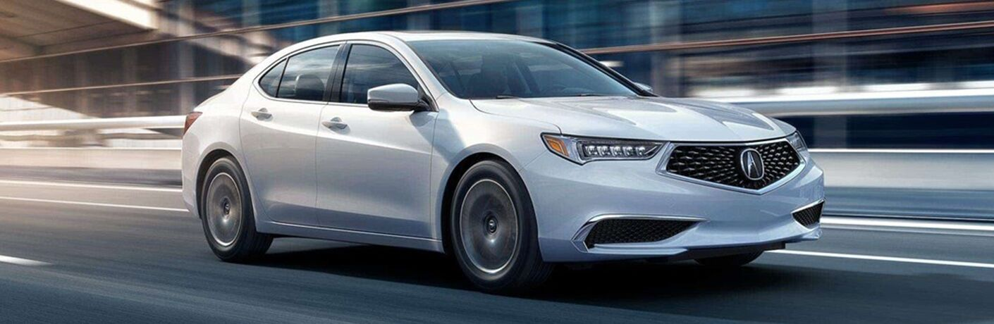 2019 Acura TLX driving downtown