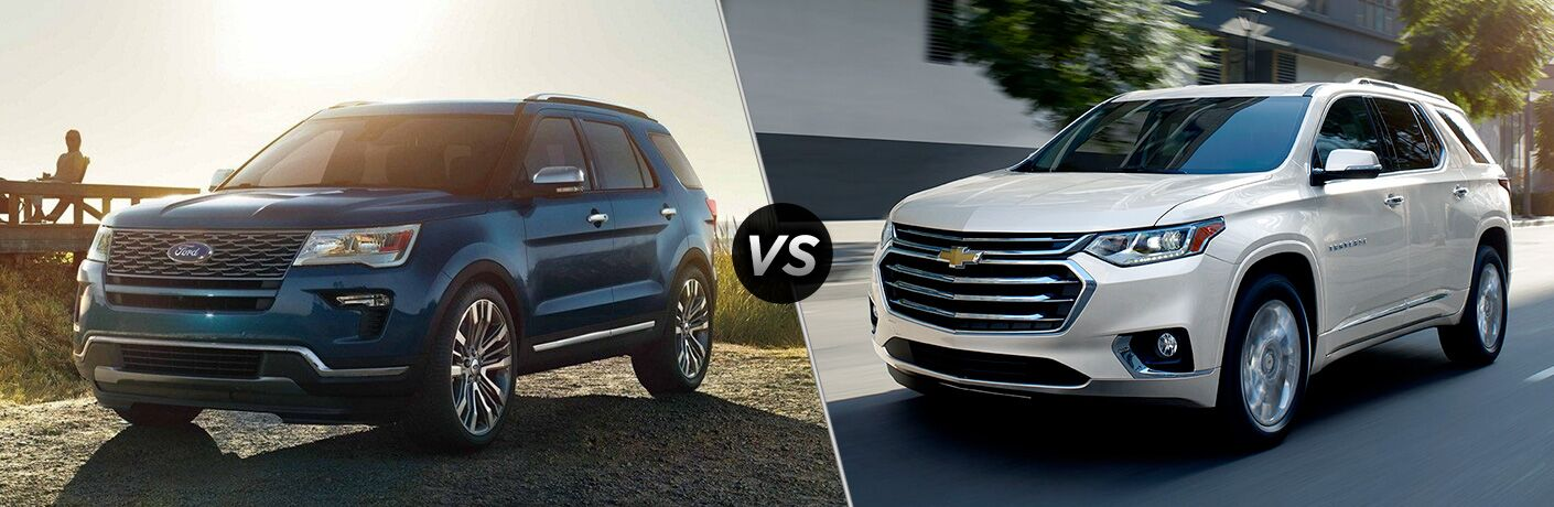 2019 Ford Explorer vs. 2019 Chevy Traverse