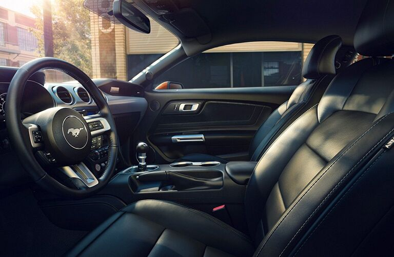 Front seats of the 2019 Ford Mustang