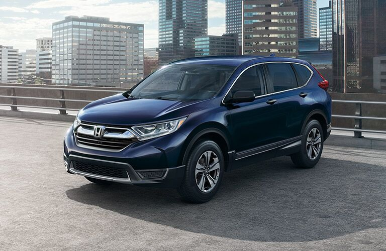 2020 Honda CR-V parked on the top of a parking ramp