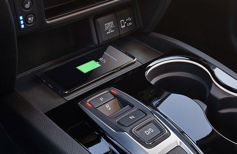 Wireless charging pad in the 2019 Honda Passport EX-L