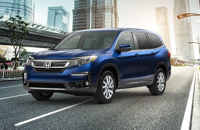 2020 Honda Pilot EX-L parked downtown