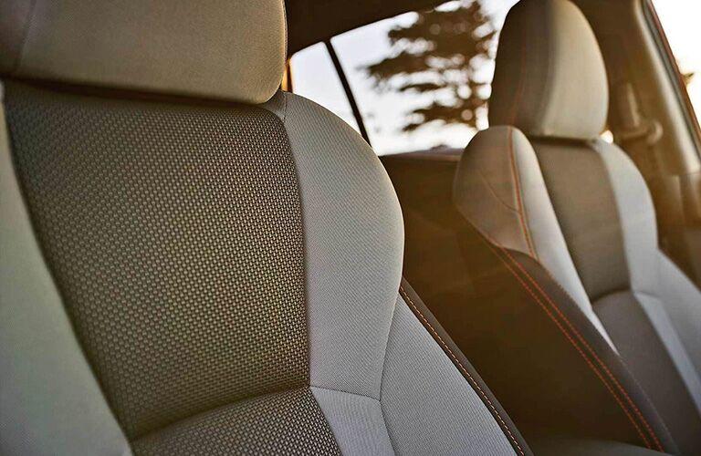 Detail of the seats in the 2019 Subaru Crosstrek