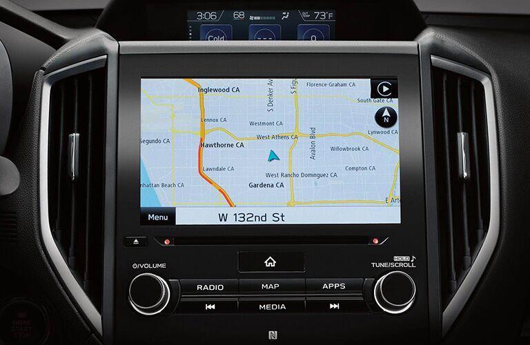 Touchscreen in the 2019 Subaru Crosstrek