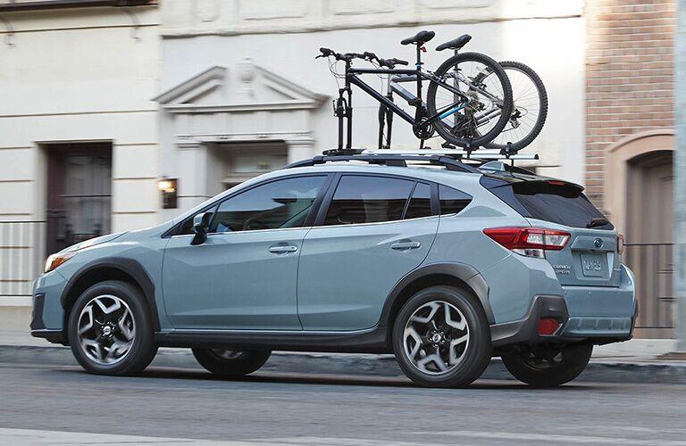 2019 Subaru Crosstrek with bikes on the roof
