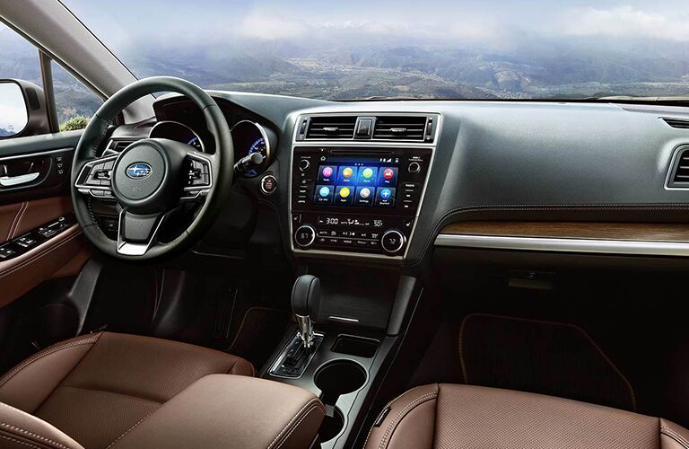 Front seats and dashboard in the 2019 Subaru Outback