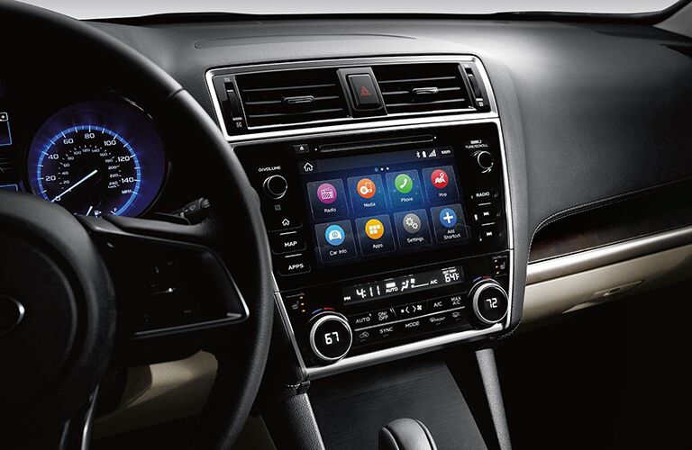 Infotainment system in the 2019 Subaru Outback