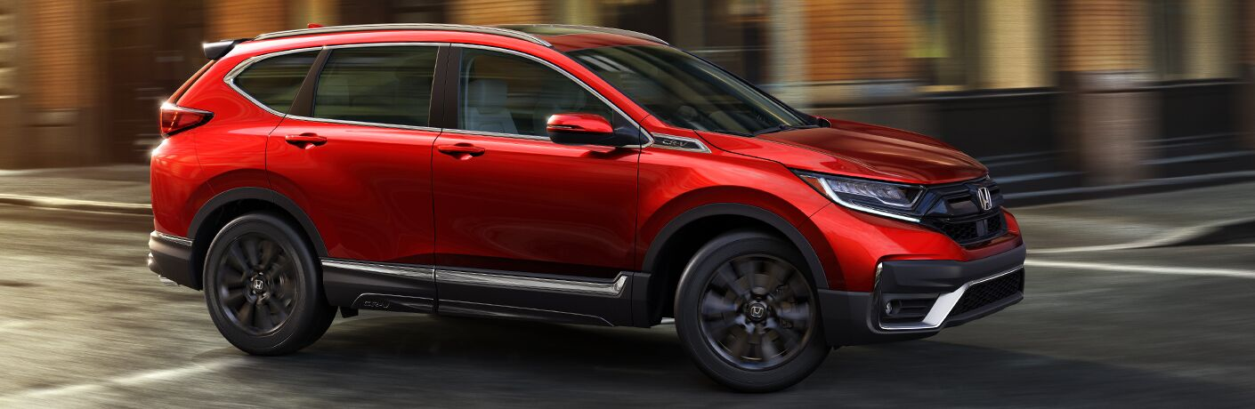 2020 Honda CR-V driving downtown