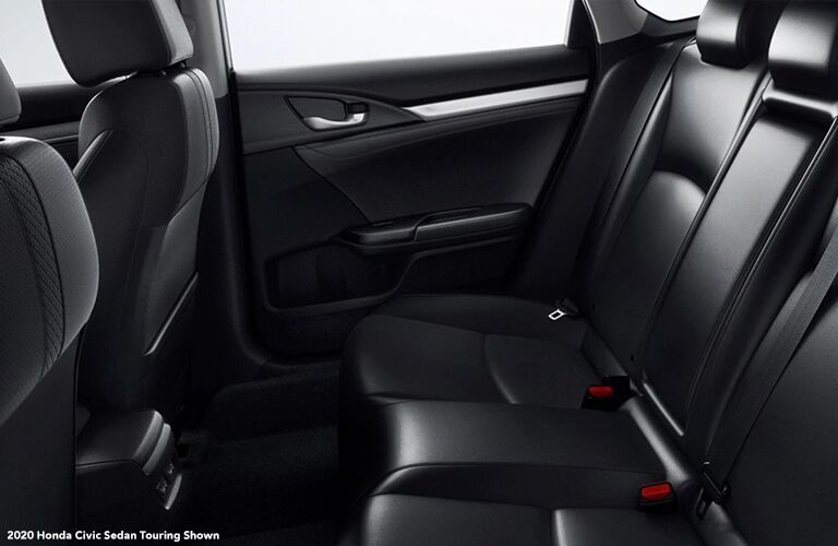 Rear seats in the 2020 Honda Civic Touring sedan