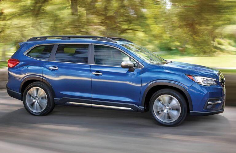 2021 Subaru Ascent driving down a rural road