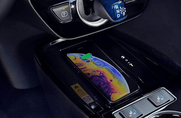 Wireless charging pad in the 2020 Toyota Prius