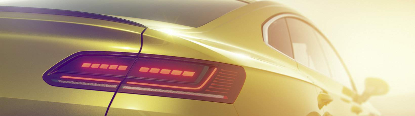 Close-up of the taillight on the 2019 Volkswagen Arteon