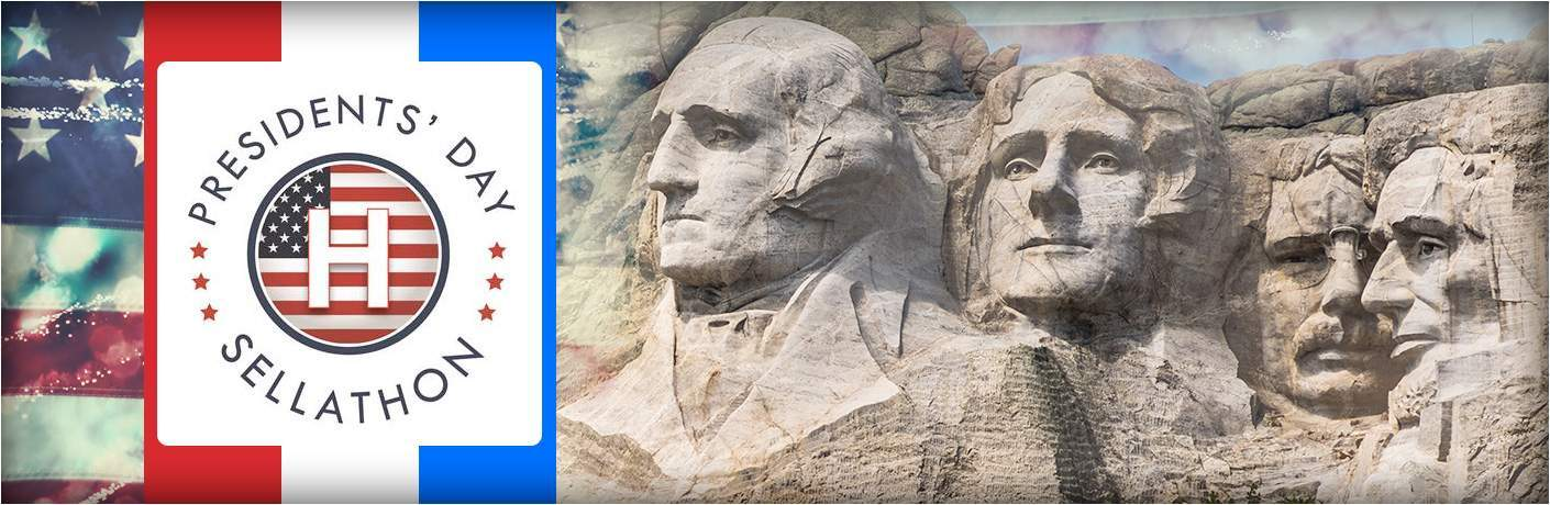 Mount Rushmore with Hansel Auto Group logo